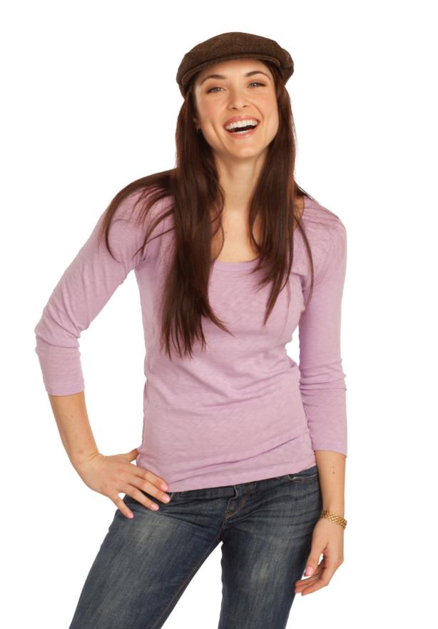 ClarityADV brunette model Clear Braces1